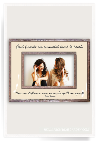 Good Friends Are Connected Heart Copper & Glass Frame 4x6