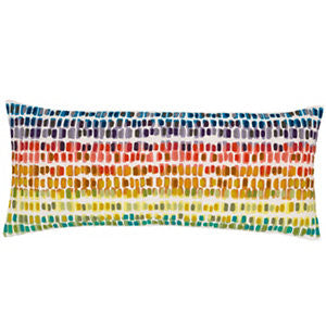 Paint Chip Embroidered Decorative Pillow