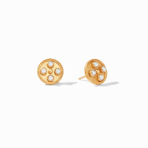 Paris Stud Gold Fresh Water Pearl