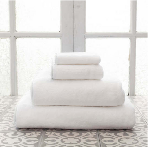 Signature Banded White Towel