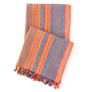 Spice Root Linen Throw