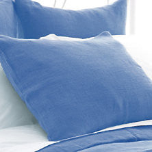 Stone Washed Linen Sham - French Blue