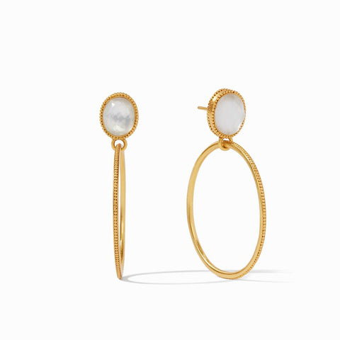 Verona Statement Earring-Clear Crystal