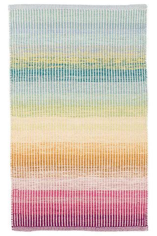 Watercolor Horizon Woven Cotton Rug.