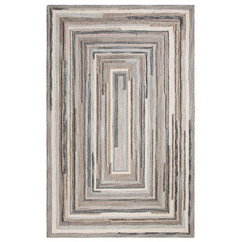 Concentric Squares Rug-Gray.