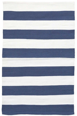 Catamaran Stripe Denim/White Indoor Outdoor