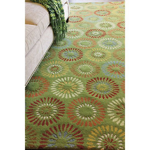 Dandelion Hand Tufted Wool Rug Green 9x13