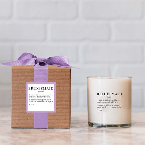 Bridesmaid Definition Candle