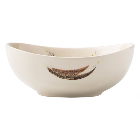 Forest Walk Oval Bowl Love & Gratitude 7 ""