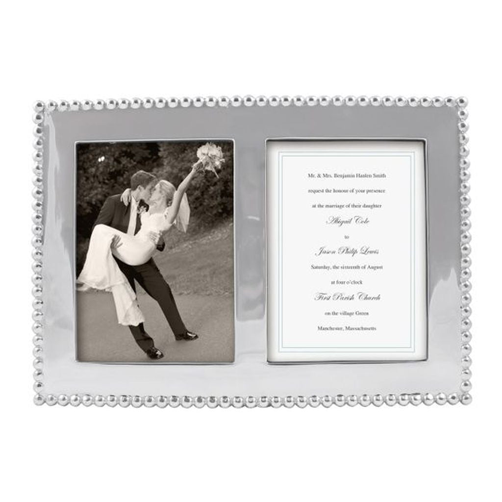 Pearled 5x7 Double Frame – Bayberry Cottage