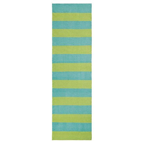 Awning Stripe Indoor/Outdoor Rug-Lake.