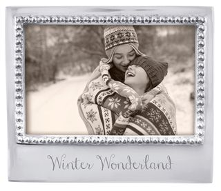 Winter Wonderland Beaded Frame-4x6