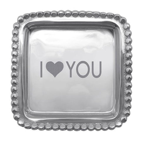 "I ""heart"" You Square Tray"