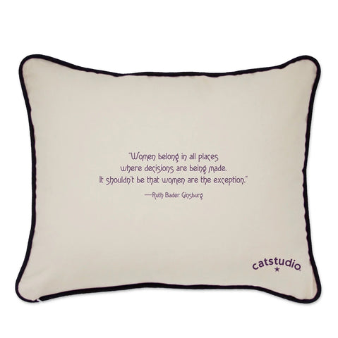 19th Amendment Embroidered Pillow-RBG
