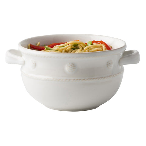 Berry & Thread 2 Handled White Soup/Chili Bowl s/4