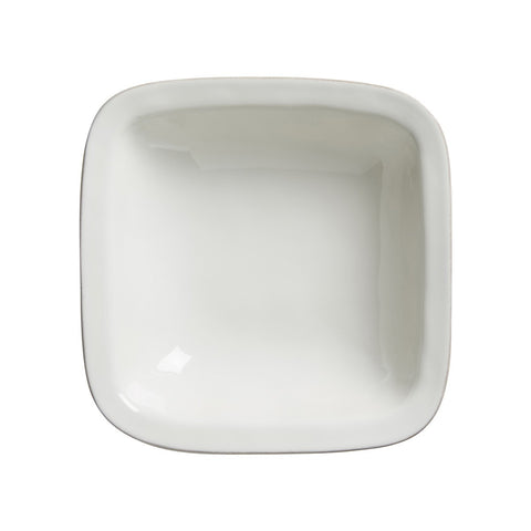"Puro Whitewash 10.5"" Rounded Square Serving Bowl"