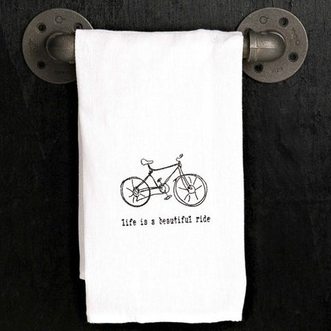 Life Is A Beautiful Ride Towel 20x25