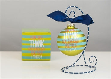 How Can I Thank God Enough For You-Glitter Glass Ornament