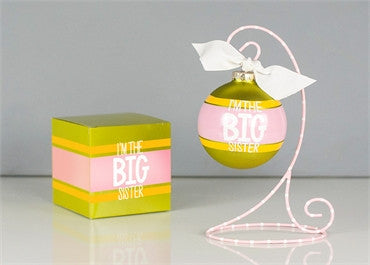 I'm The Big Sister-Glass Ornament