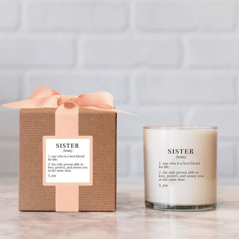 Sister Definition Candle
