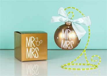 Mr. And Mrs.-Glass Ornament