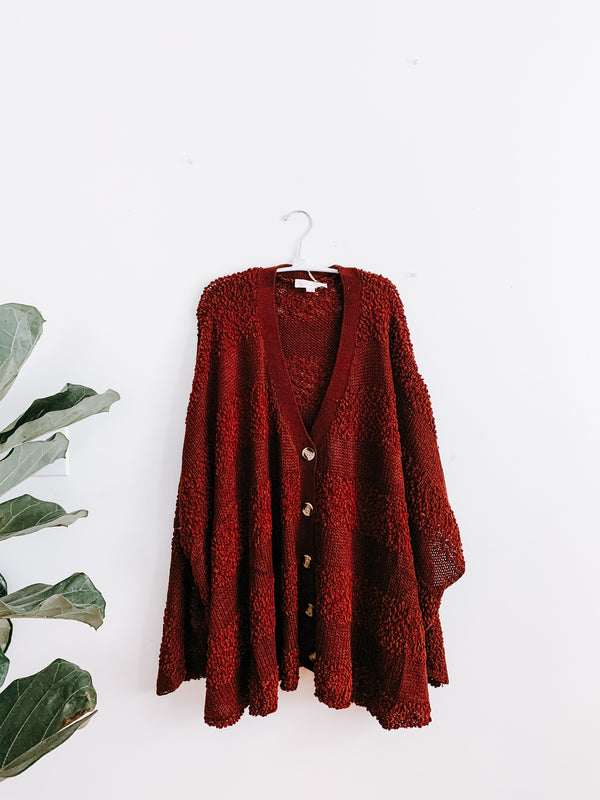 Lovestitch Lydia Buttondown Poncho