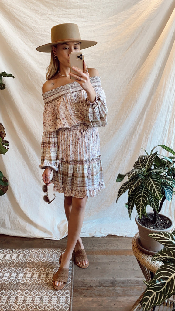 Lovestitch Adeline Smock Tiered Longsleeve Dress