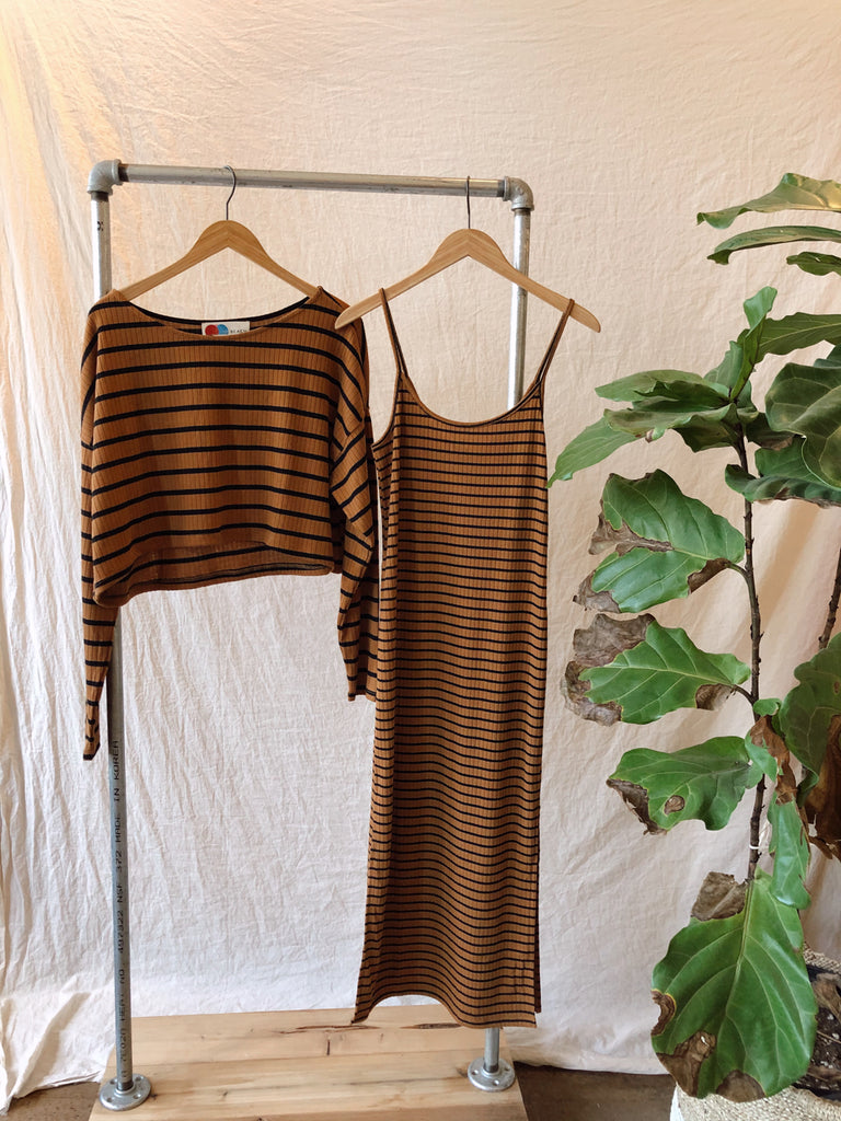 Free People Zinnia Striped Set