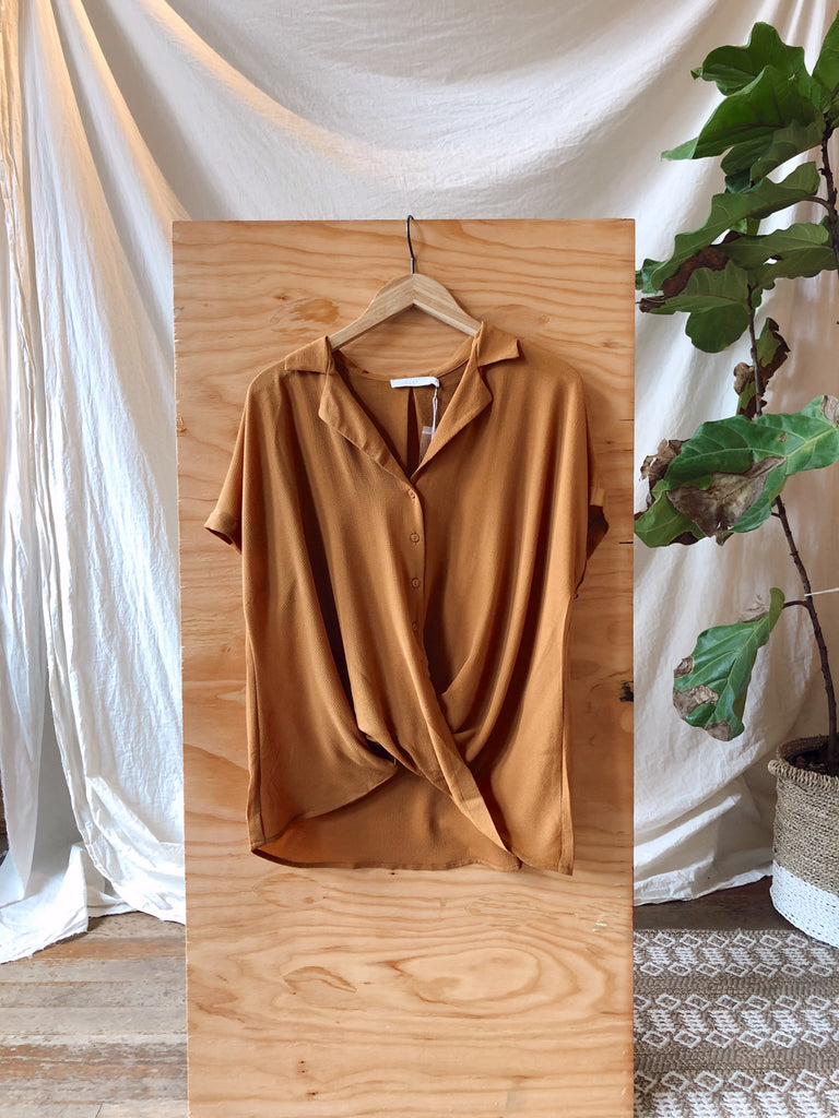 Lush Elaina Button Wrap Blouse