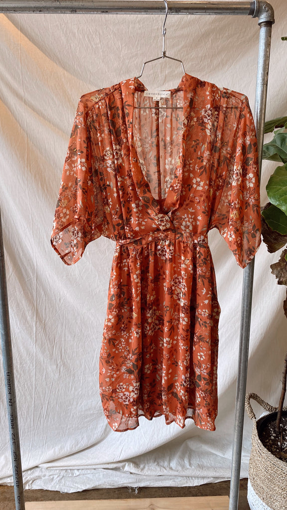 Lovestitch Whitney Kimono Sleeve Mini Dress
