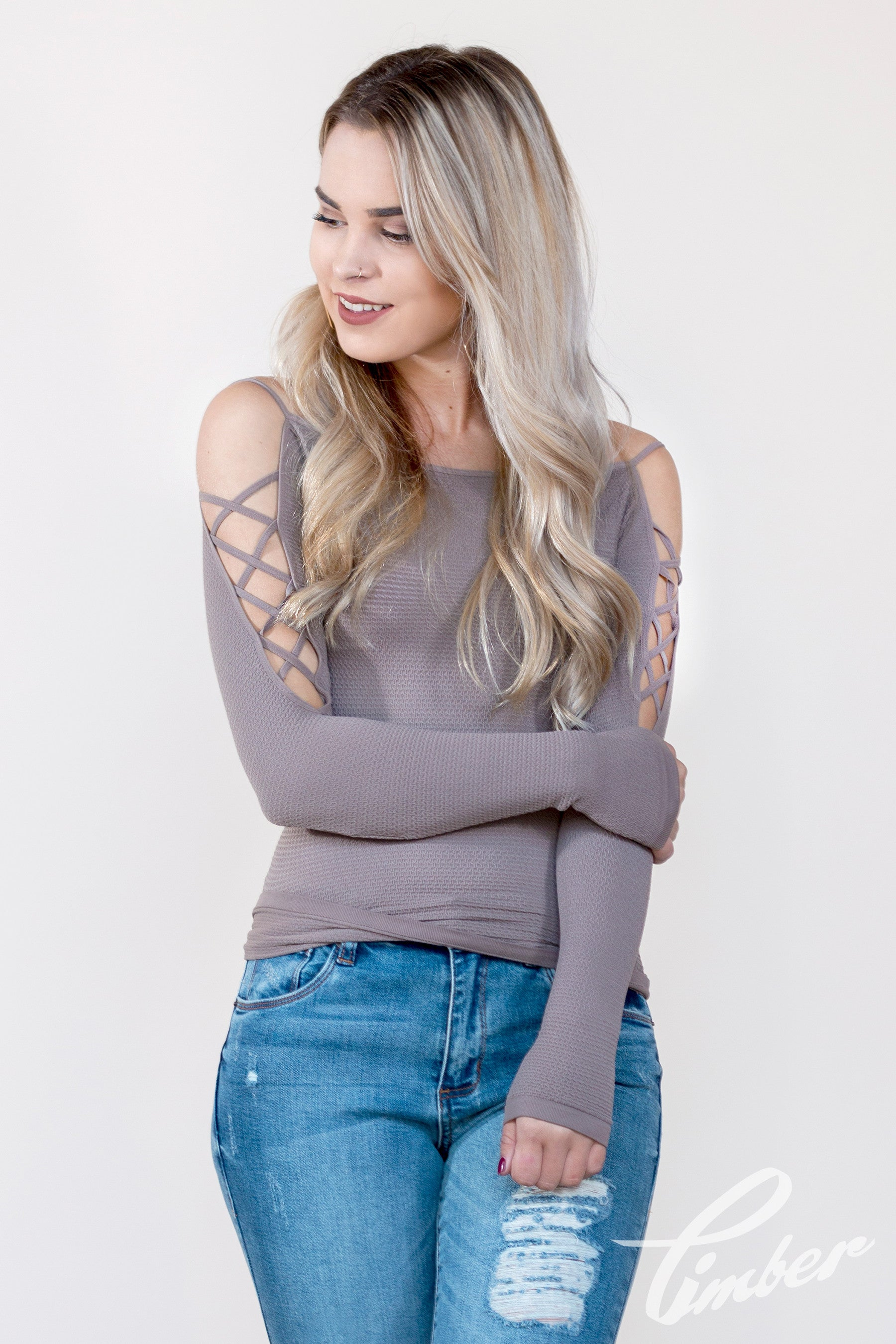 Free People Lace Up Sides Layering