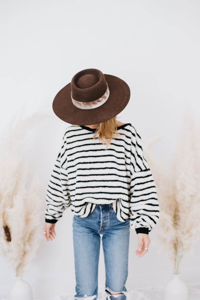 Free People Breton Striped Pullover