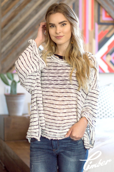 Free People Striped Island Girl Hacci