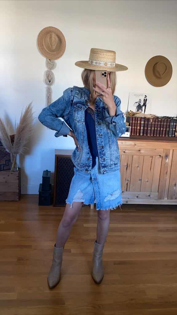Kut Emma Boyfriend Denim Jacket