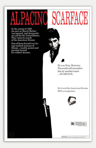 "Scarface - 11"" x 17""  Movie Poster"