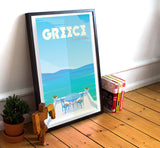 "Greece Travel Poster - 11"" x 17"" Poster"