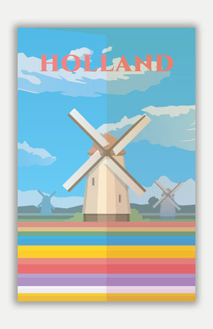 "Holland Travel Poster - 11"" x 17"" Poster"