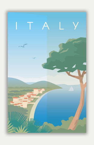 "Italy Travel Poster - 11"" x 17"" Poster"