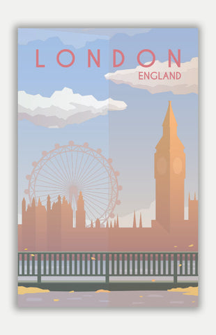 "London Travel Poster - 11"" x 17"" Poster"