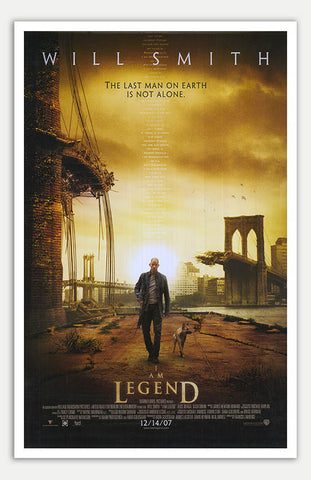 "I am Legend - 11"" x 17""  Movie Poster"