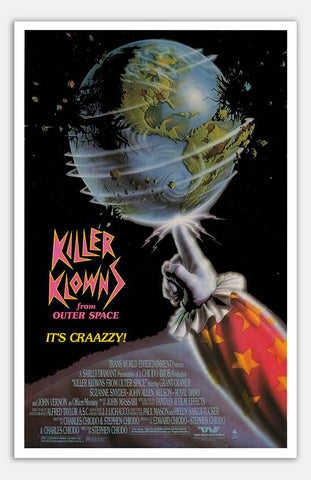 "Killer Klowns From Outer Space - 11"" x 17""  Movie Poster"
