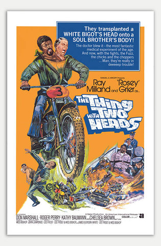 "Thing with two heads - 11"" x 17""  Movie Poster"
