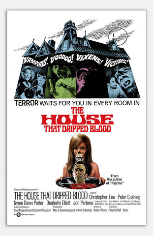 "House that dripped blood - 11"" x 17""  Movie Poster"