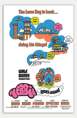 "herbie rides again - 11"" x 17""  Movie Poster"