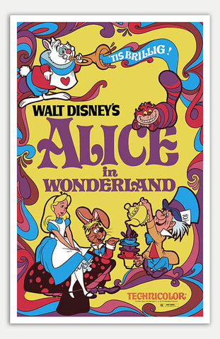 "Alice in Wonderland - 11"" x 17""  Movie Poster"