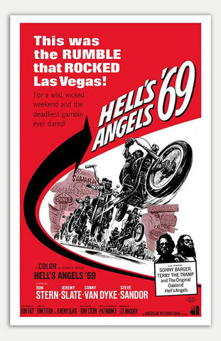"Hell's Angels '69 - 11"" x 17""  Movie Poster"