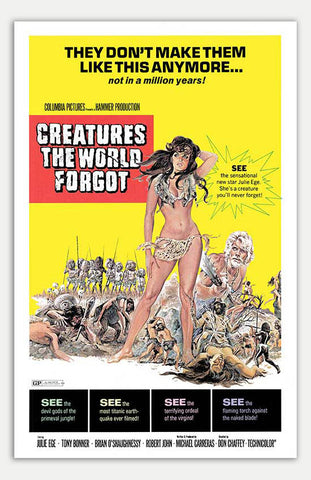 "Creatures the world forgot - 11"" x 17""  Movie Poster"