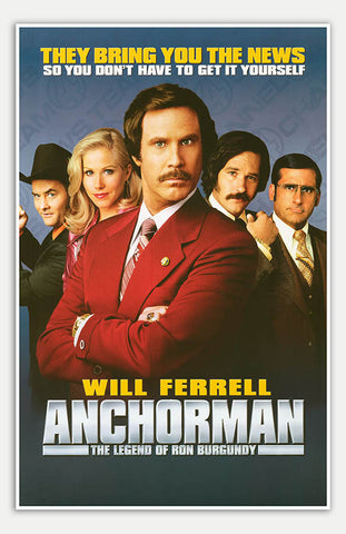 "Anchorman: The Legend Of Ron Burgundy - 11"" x 17""  Movie Poster"