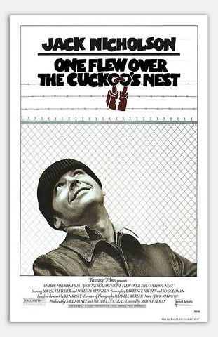 "One Flew Over The Cuckoo's Nest - 11"" x 17""  Movie Poster"