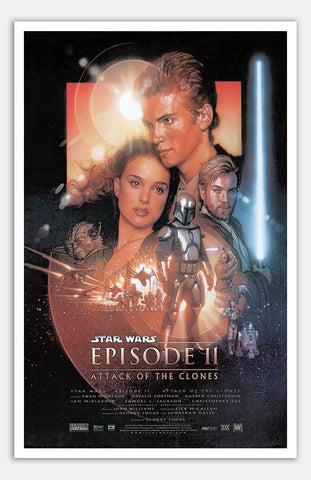 "Star Wars: Episode II - Attack Of The Clones - 11"" x 17""  Movie Poster"